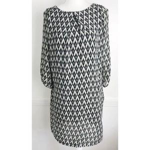 H&M • Black White Pattern Dress